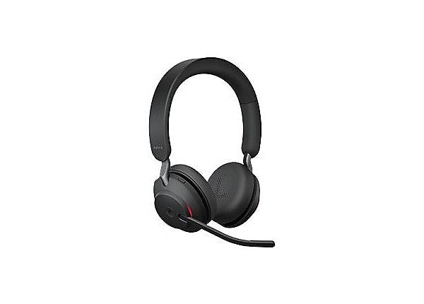 Jabra Evolve2 65 Stereo USB-A MS Headset w/ Charging Stand - Black