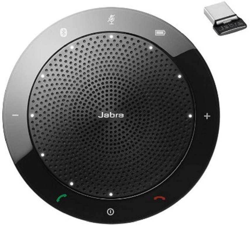Jabra Speak 510+ MS Wireless Bluetooth Speaker for Softphone and Mobile Phone (7510-309). Link 370 USB Included
