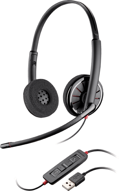Plantronics Blackwire 320, Over-the-head, Binaural