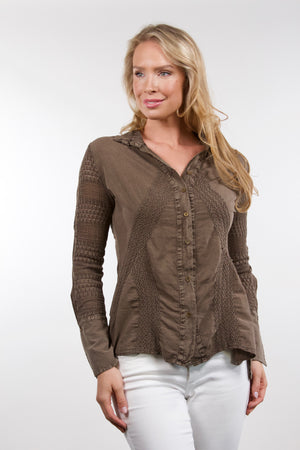 Cava - Cotton Blouse Brown