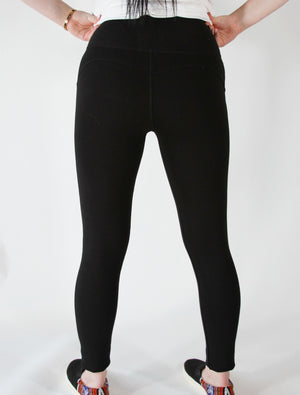 Leggings-Pima cotton and spandex Black