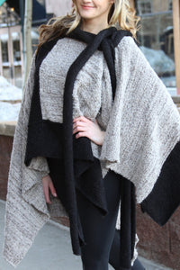 Two Tone - Alpaca Shawl