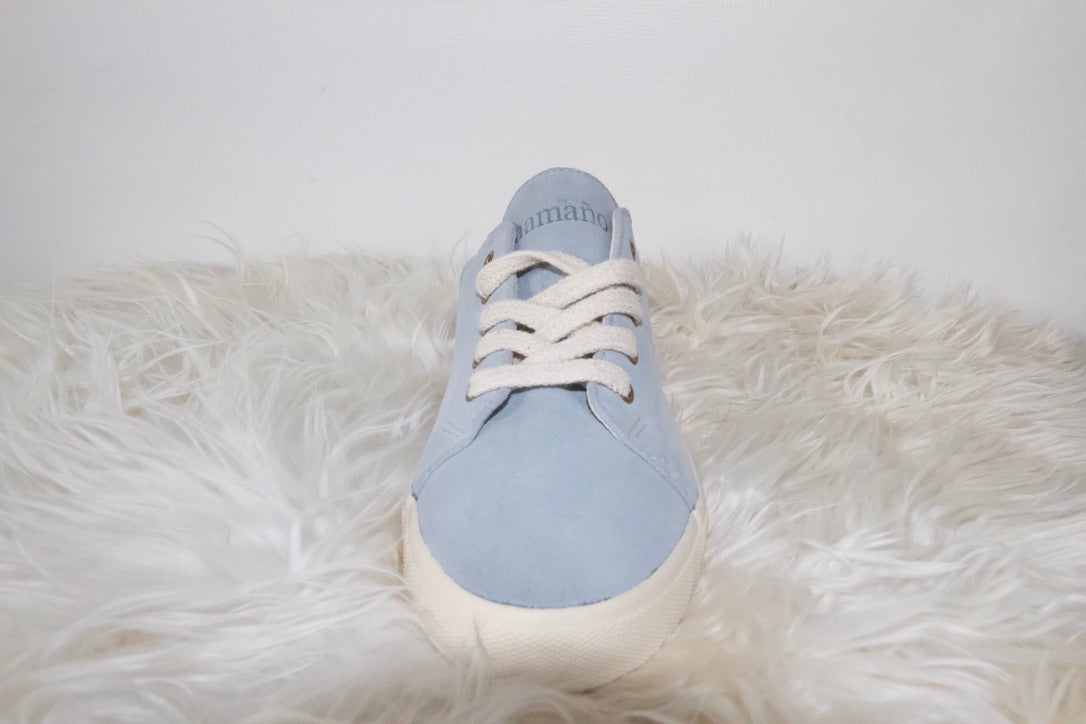Suede low top Sky Blue