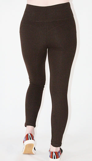 Leggings-Pima cotton and spandex Brown