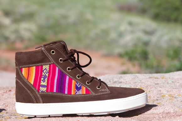 Suede High Top Brown