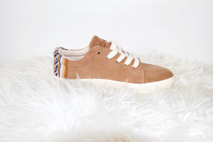 Suede Low Top Shoe Tan
