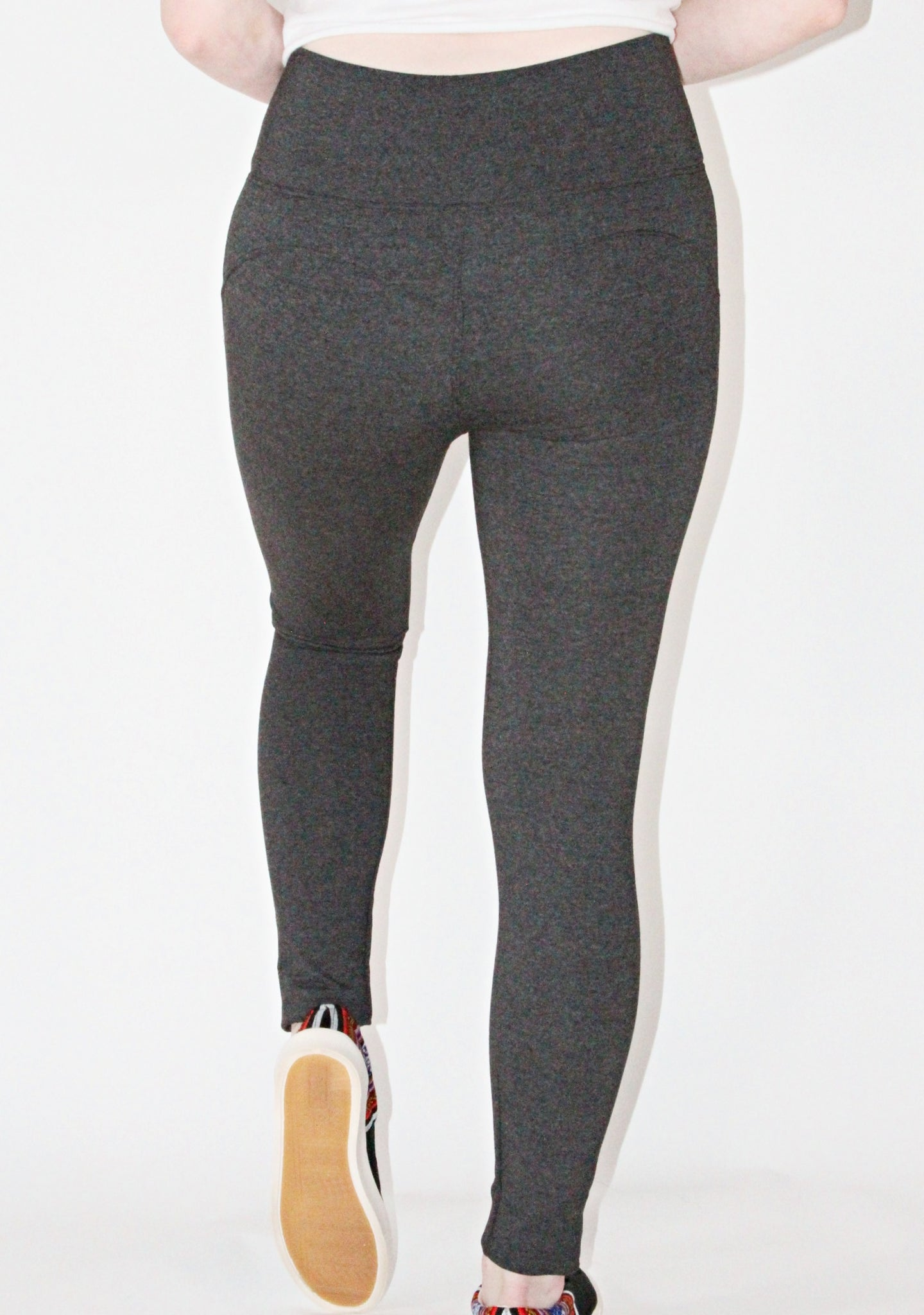 Leggings-Pima cotton and spandex Grey