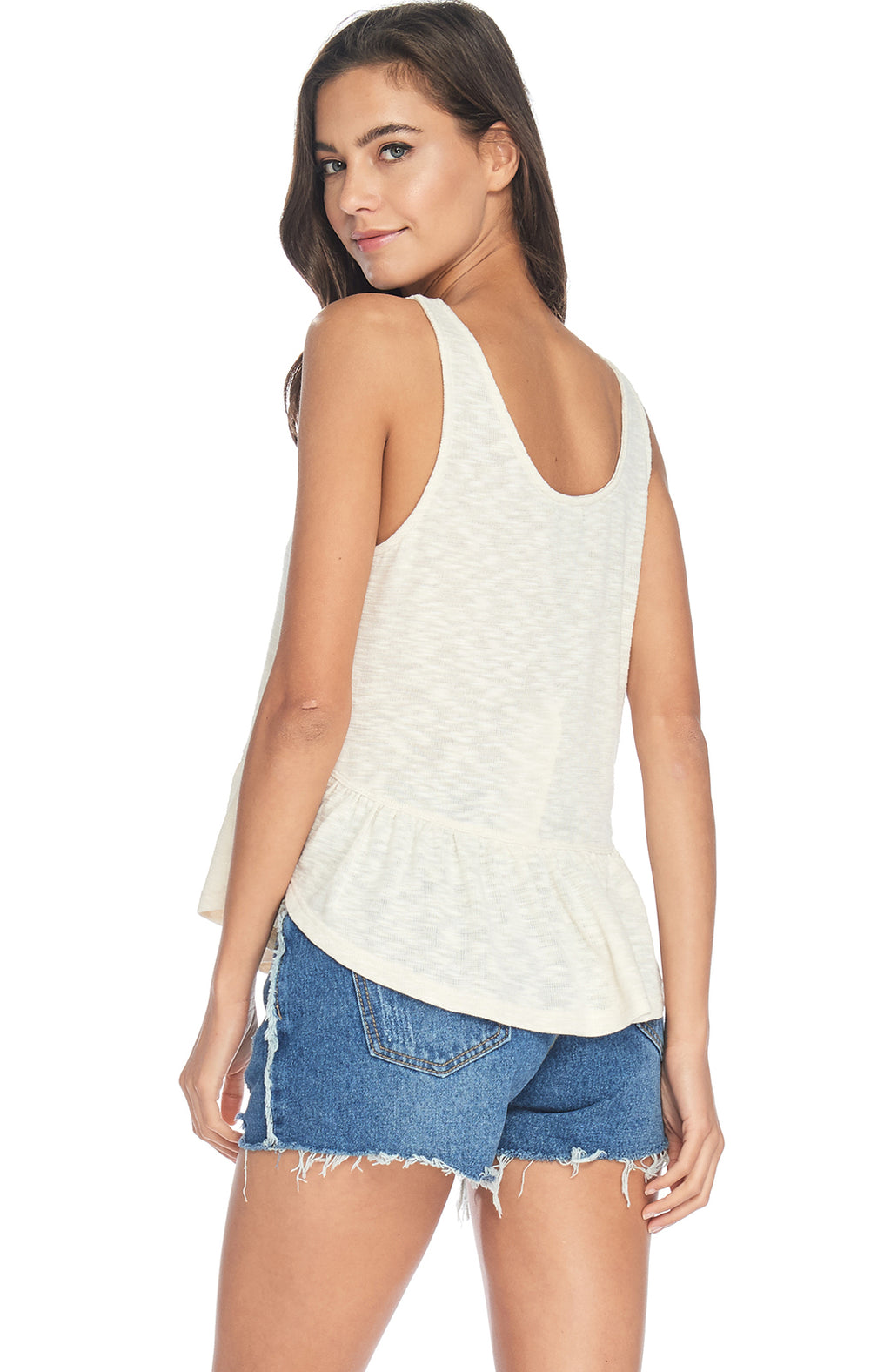 S18-276 Heathered Peplum Tank