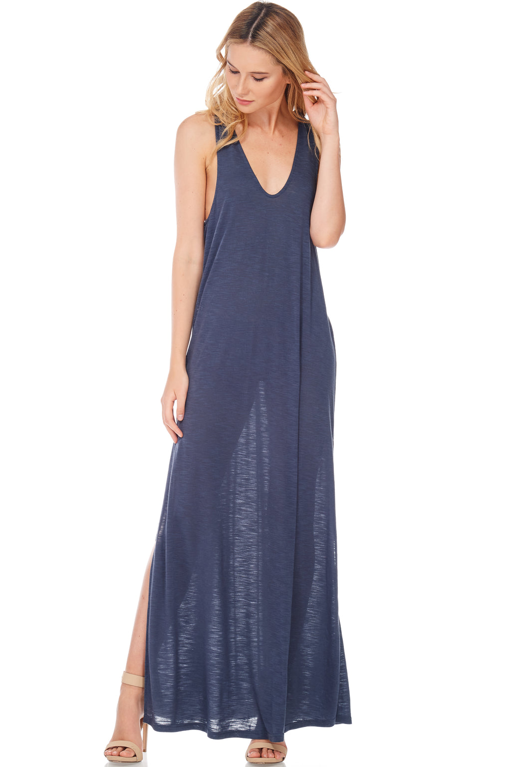 S18-078 Twist Back Maxi Dress