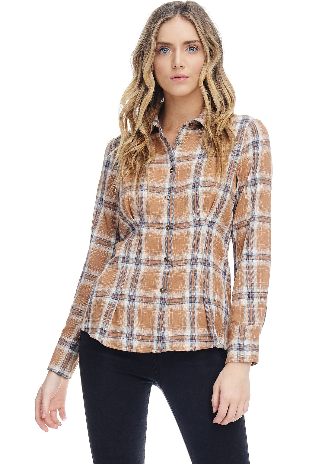 W18-001 Plaid Button Down