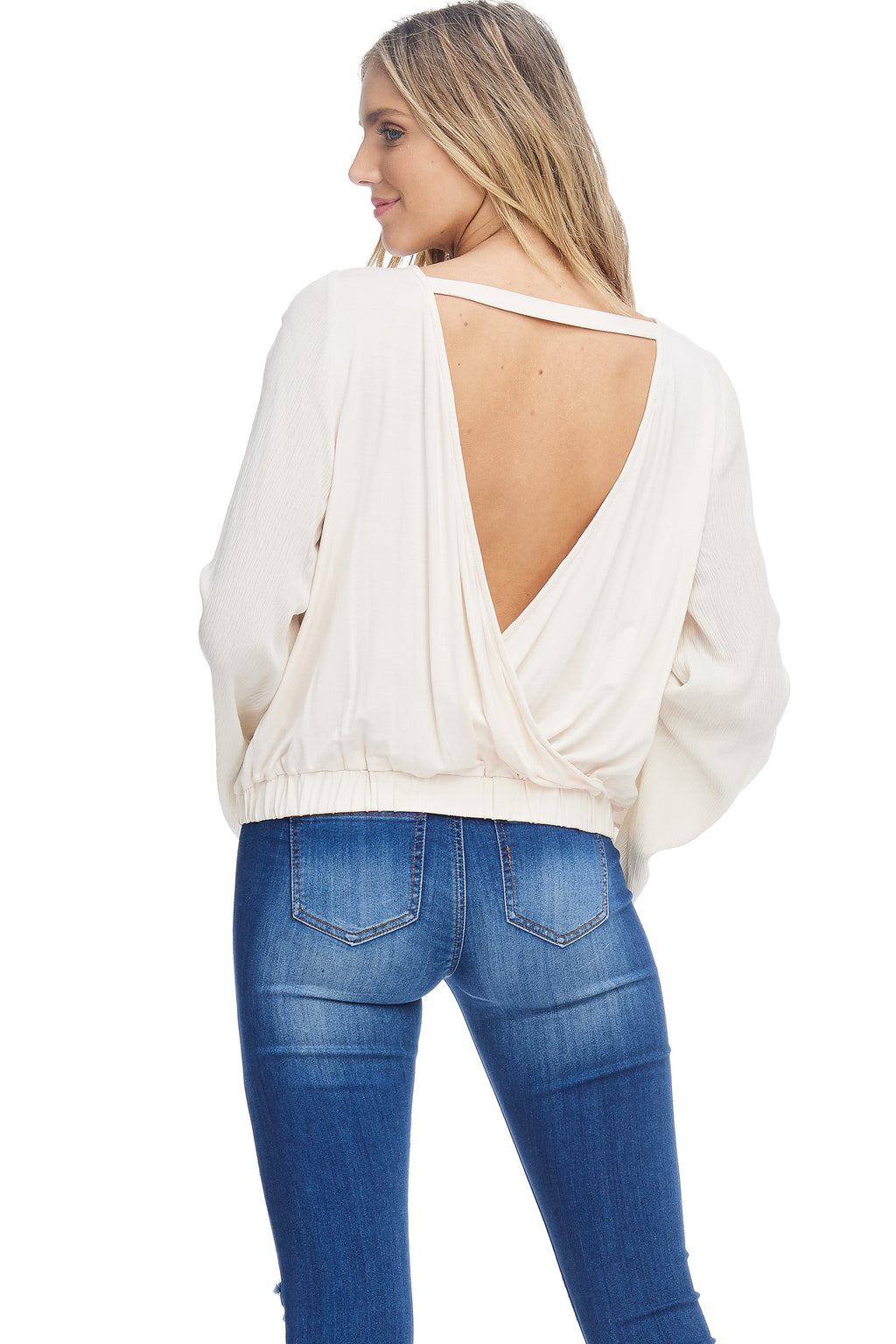 W18-076 Open Back Blouse