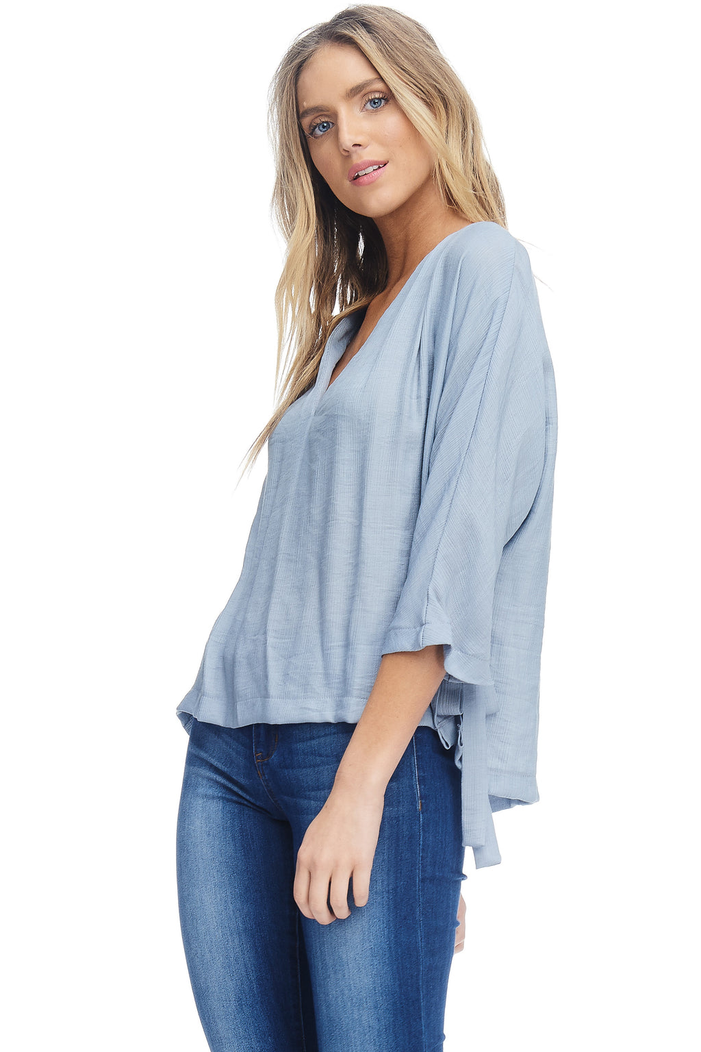 W18-132 Silky Crinkled Blouse