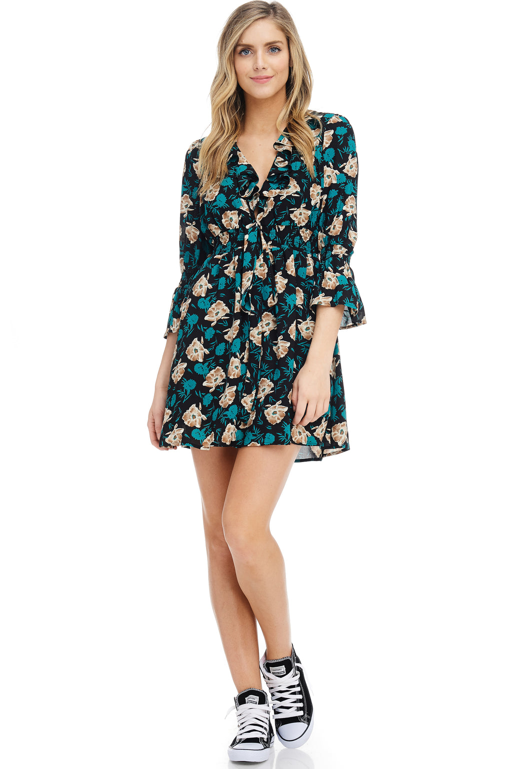 *Pre-Order* W18-170 Floral Ruffled Dress