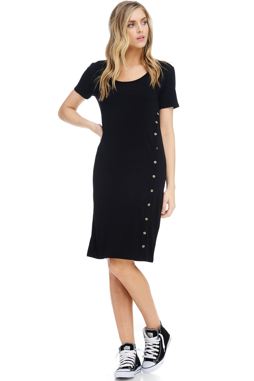 *Pre-Order* W18-215 Buttoned Shift Dress