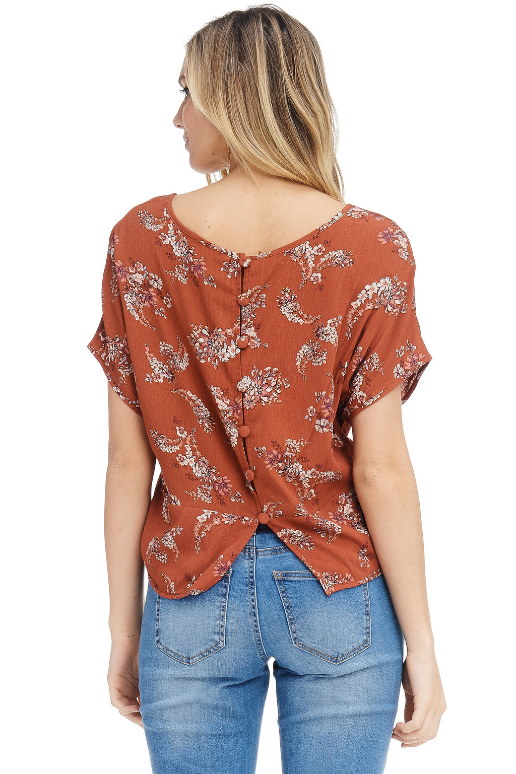 *Pre-Order* W18-265 Paisley Button Back Blouse