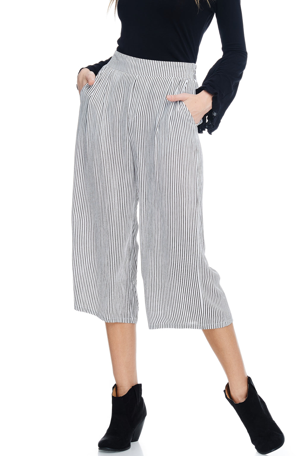 W18-093 Striped Culottes