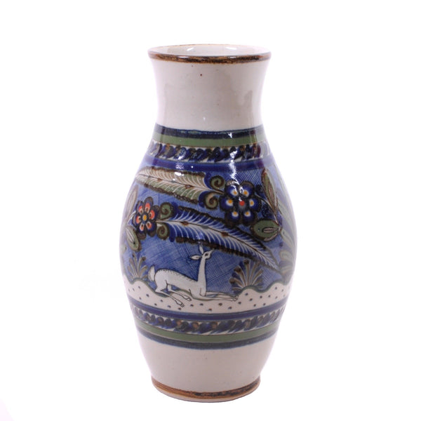 "Large Hand Turned ""Petatillo"" Stoneware Vase by Xochiquetzal"