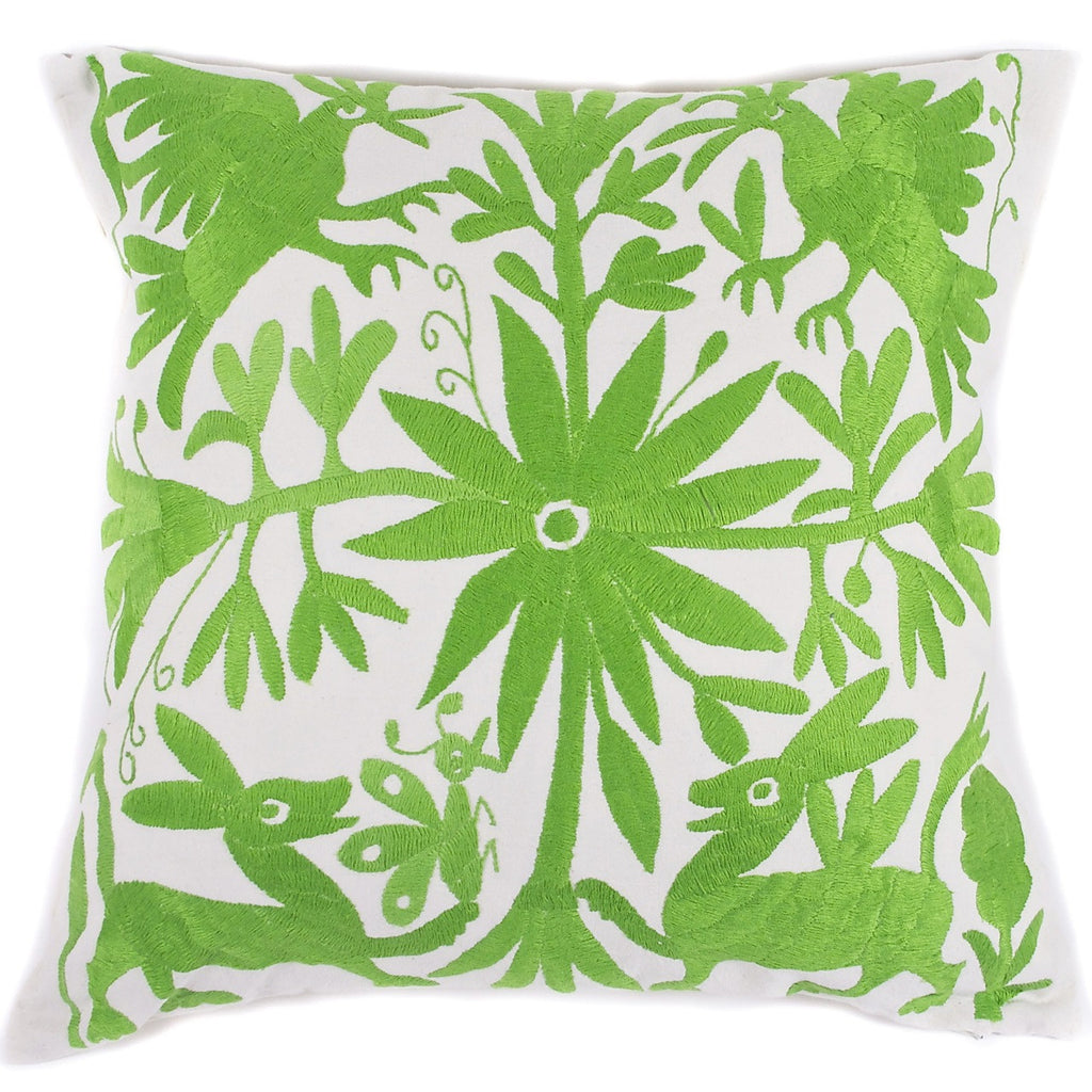 Green-Otomi-Pillow