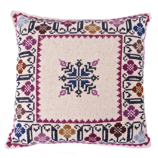 Tamachij Hand Embroidered Wool Pillows