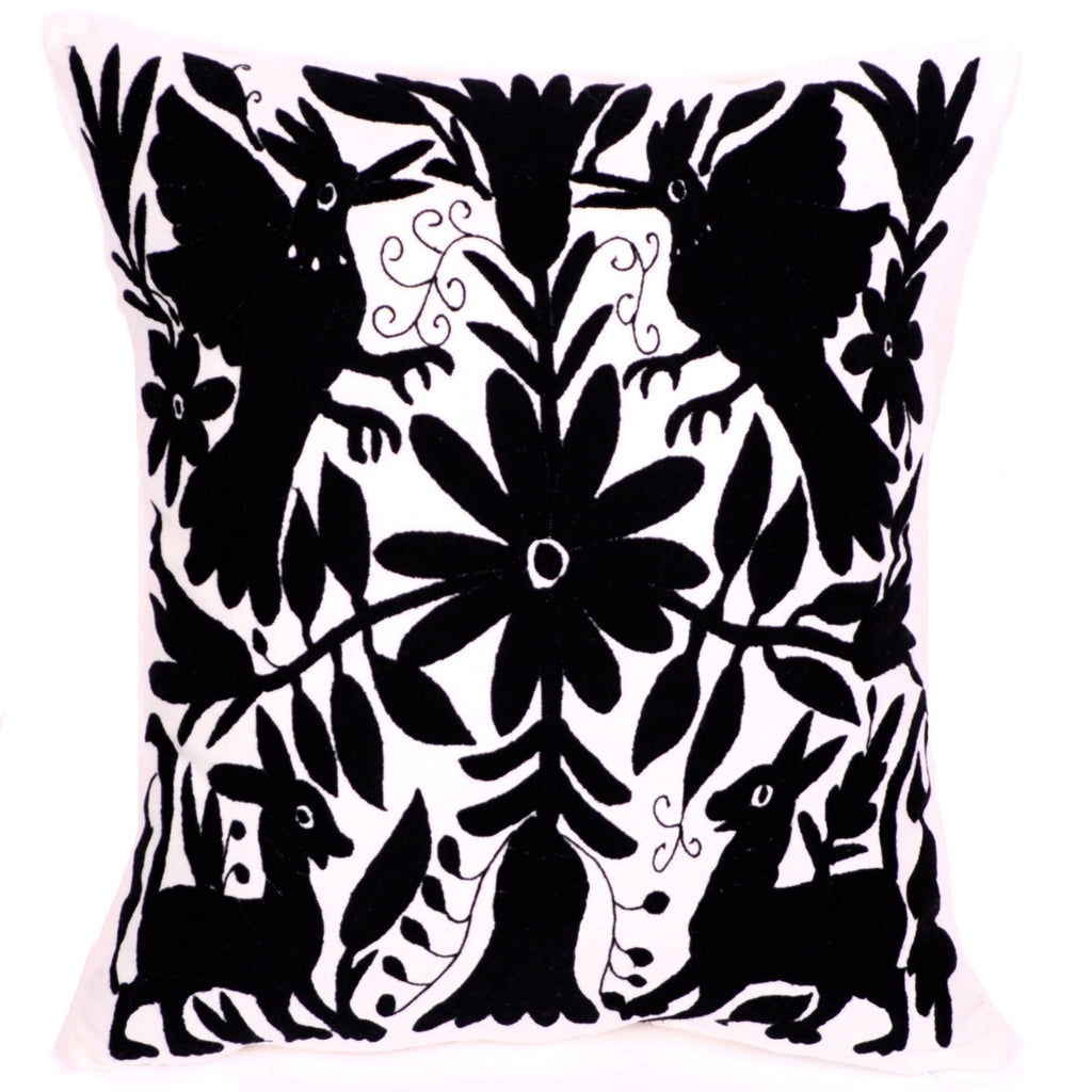 Otomi-Pillow-Sham-Black