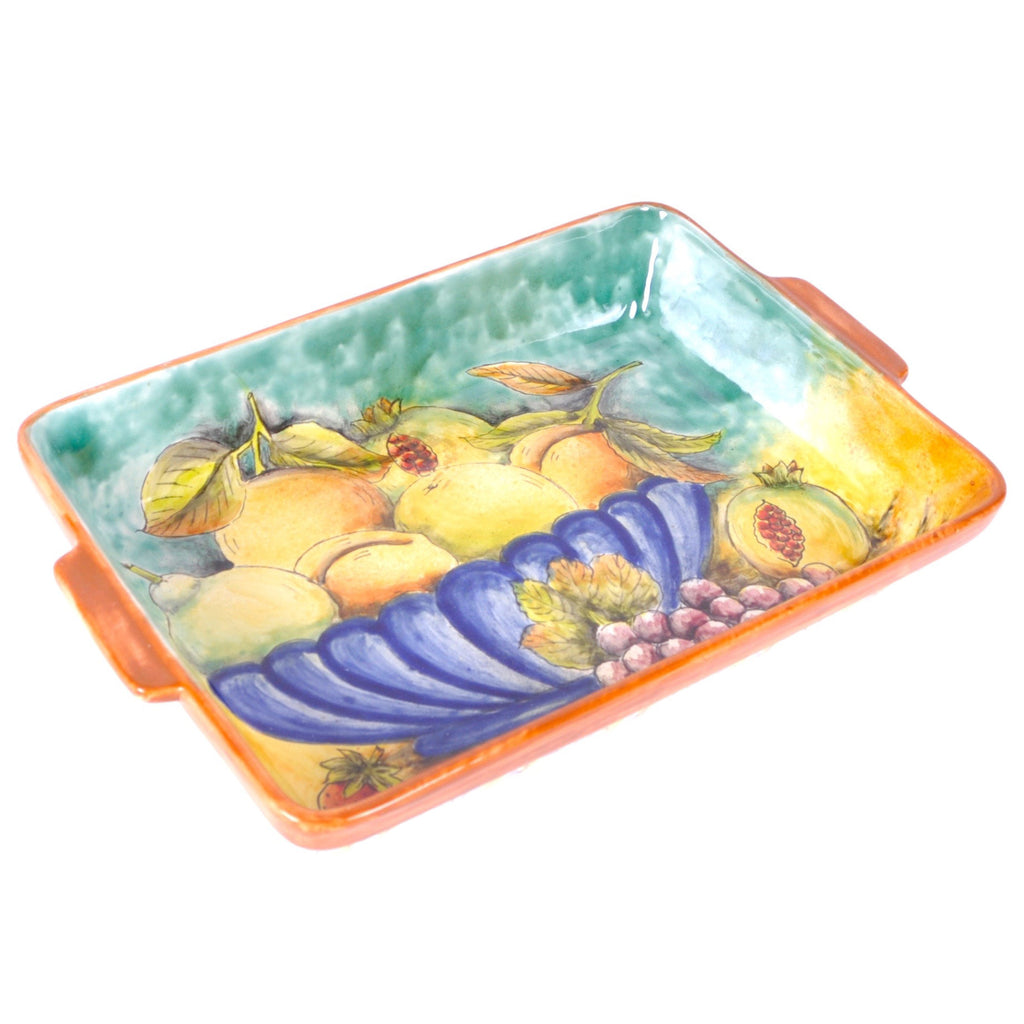"Santa Rosa Majolica ""Still Life"" Large Rectangular Tray"