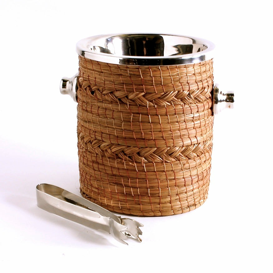 Woven Pine Needle Ice Bucket