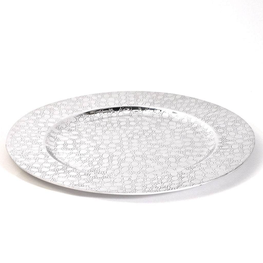 Mexican Pewter Leopard Charger Plate
