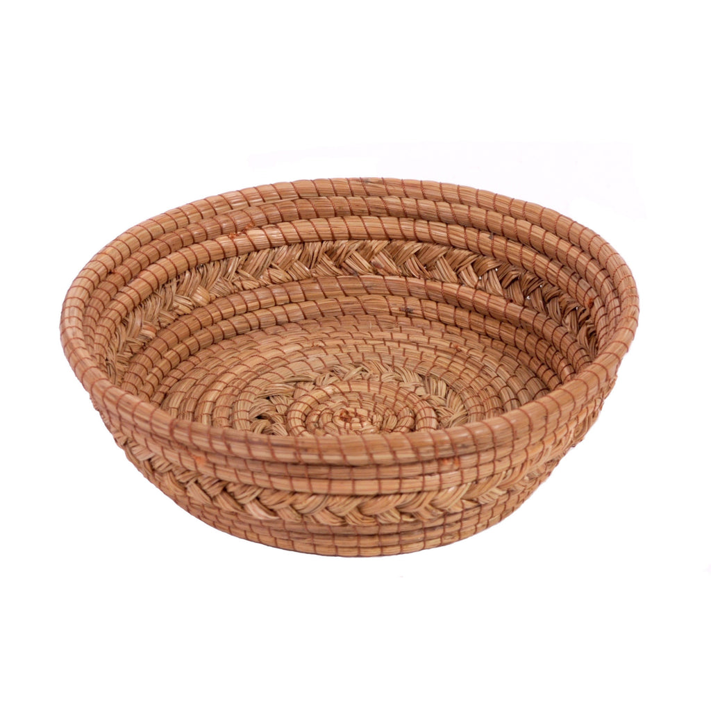 "Tapered Round 9"" Pine Needle Basket"