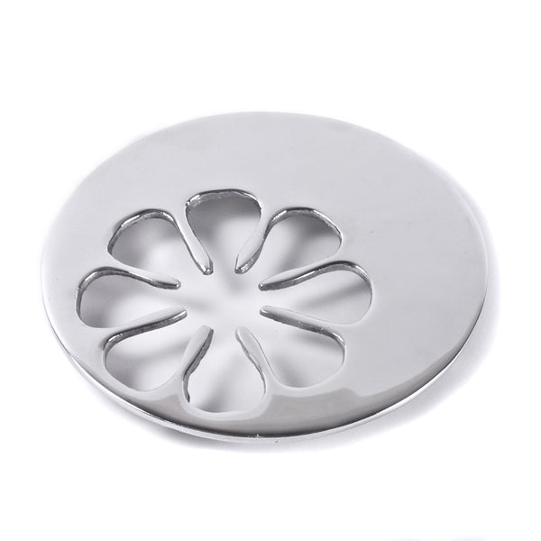 Mexican Pewter Daisy Trivet / Hot Plate