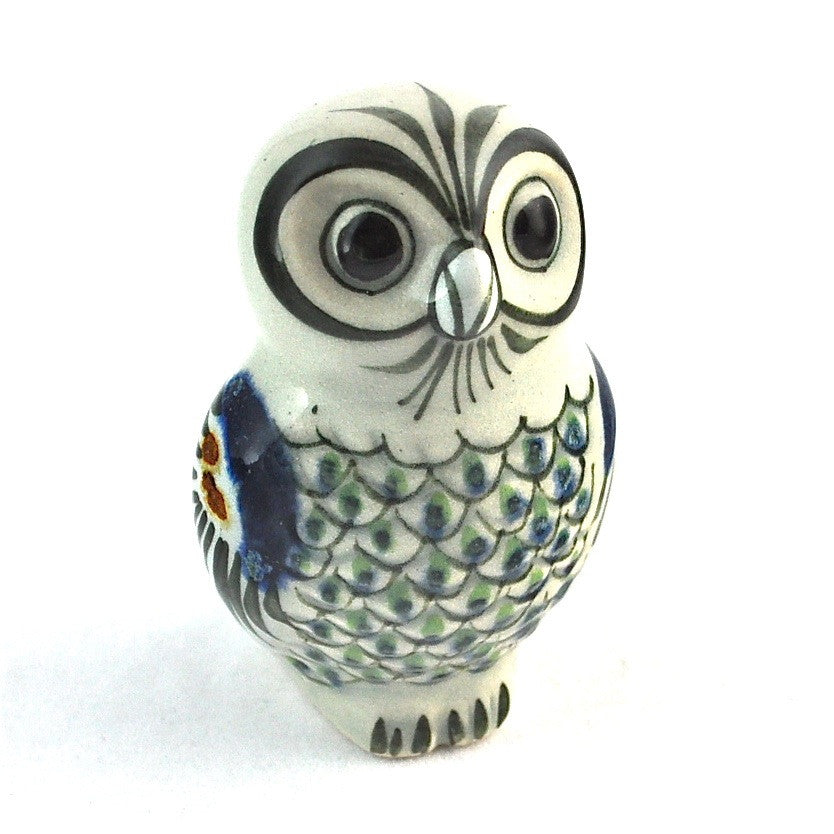 Ken Edwards Stoneware Small Feathered Owl