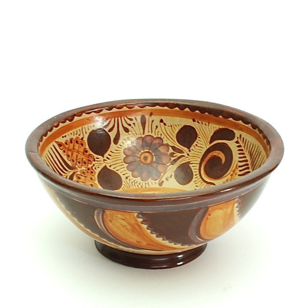 "Handpainted ""Barro Canelo"" Decorative Bowl by José Pajarito"
