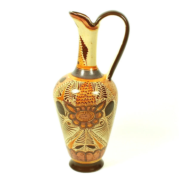 "Burnished Pottery Large Decorative ""Jarra"" by Studio Pajarito"