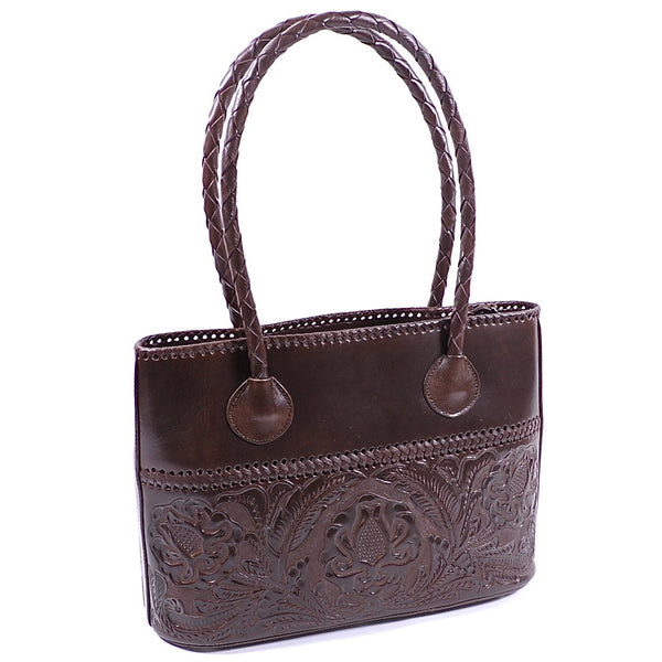 Hand Carved Chocolate Large Handbag by Yeo Designs (CGD)