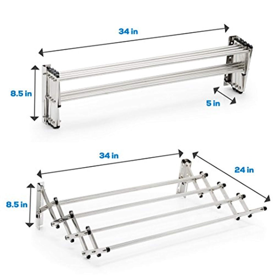 Multi Purpose Stainless Steel Folding Clothes Rack