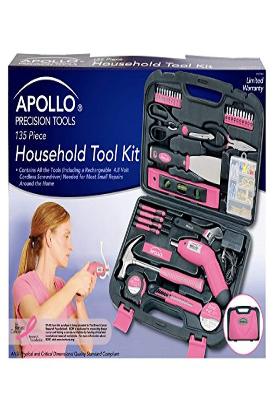135 Piece Complete Household DIY Tool Kit