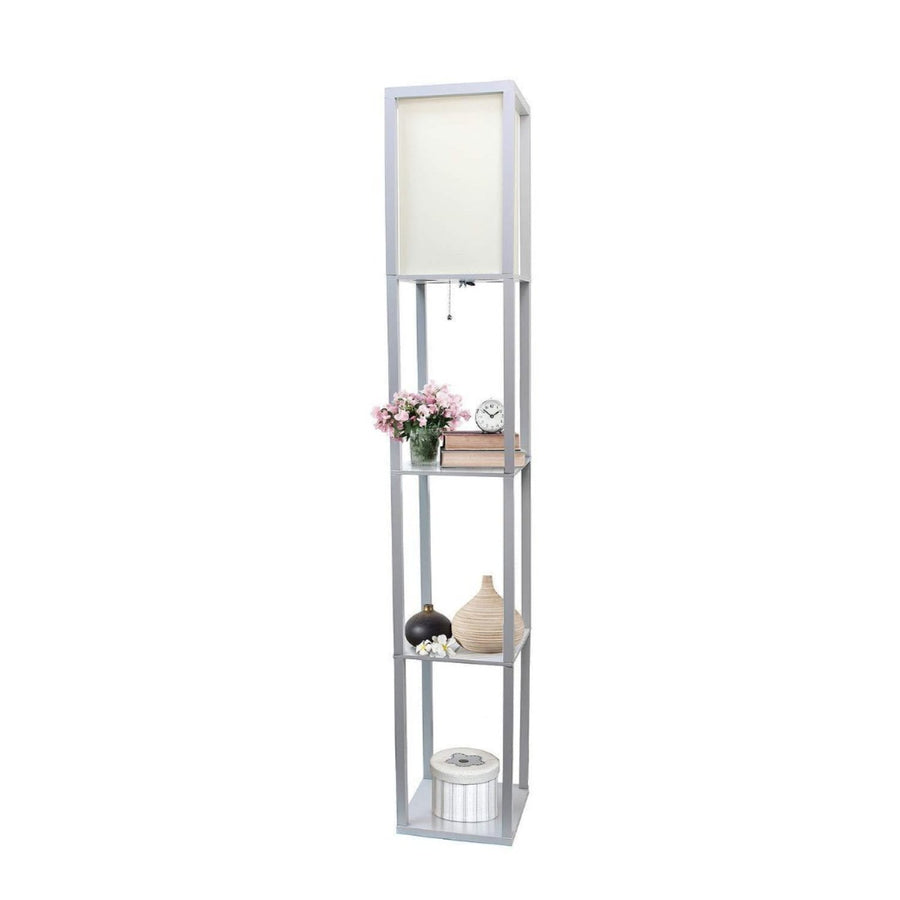 Etagere Organizer Storage Shelf Floor Lamp