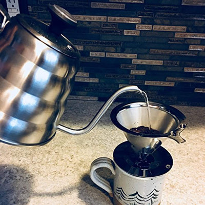 Stainless Slow Drip Steel Pour Over Coffee Dripper