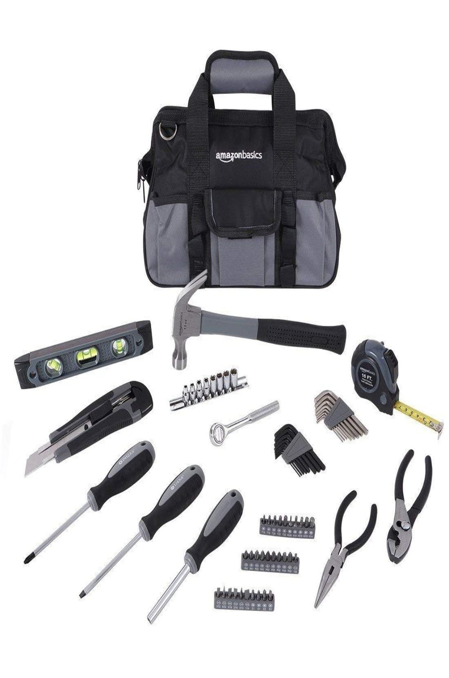 65-Piece Home Repair Tool Kit (with Tool Bag)