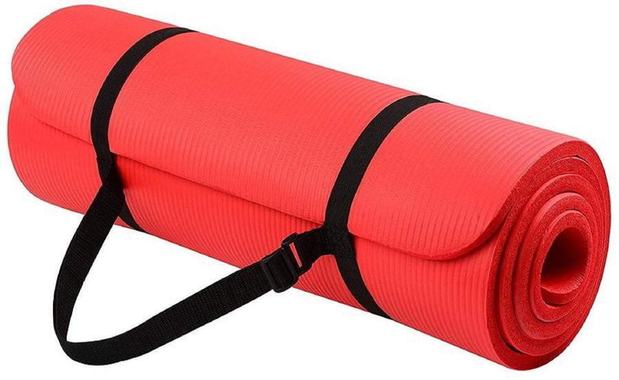 All-Purpose Extra Thick High Density Anti-Tear Exercise Mat (with Carrying Strap)