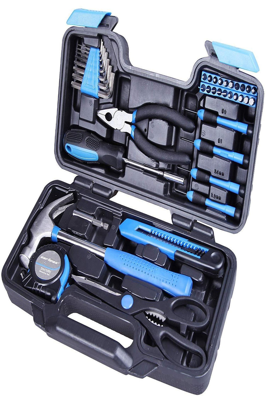 39-Piece Household Cutting Plier Plastic Storage Case Tool Set