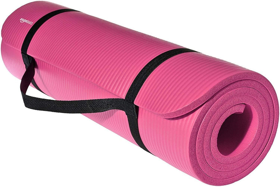 1/2-Inch Extra Thick AmazonBasics Exercise Mat for Yoga and Gym