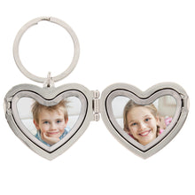 Load image into Gallery viewer, Personalised Heart Photoframe Keyring