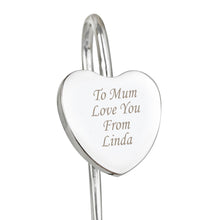 Load image into Gallery viewer, Personalised Silver Heart Bookmark