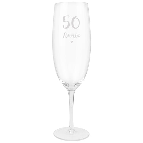 Personalised Big Age Bottle Of Prosecco Glass