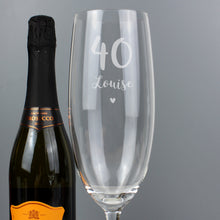 Load image into Gallery viewer, Personalised Big Age Bottle Of Prosecco Glass