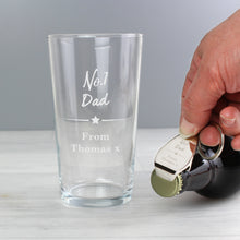 Load image into Gallery viewer, Personalised No.1 Pint glass & Bottle Opener Set