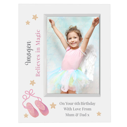 Personalised Swan Lake Ballet 7x5 Box Photo Frame