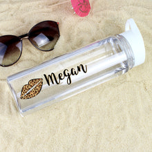 Load image into Gallery viewer, Personalised Lepoard Lips Island Water Bottle