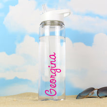 Load image into Gallery viewer, Personalised Pink Name Island Water Bottle
