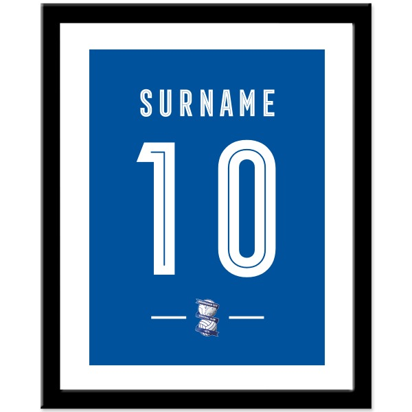 Birmingham City Retro Shirt Print